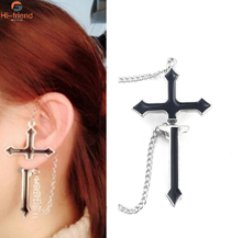 European and American style black cross earrings Womens fashion Halloween Christmas boutique accessories gift Jewelry