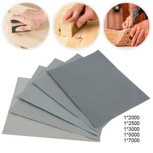 Image 2 - 5 חתיכות נייר זכוכית סט 2000 2500 3000 5000 7000 Grit מלטש נייר מים/יבש שוחק SandPapers