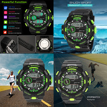 цена на LED Waterproof Wrist Watch 2019 New Electronic sports watch Luxury Analog Digital Military digital wristwatches watch men Y10.17