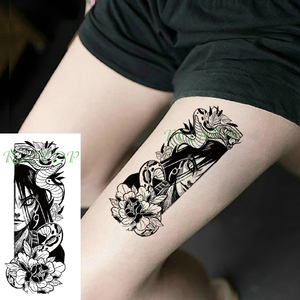 Waterproof Temporary Tattoo Sticker Japanese cartoon Naruto Orochimaru snake flower Fake Tatto Flash Tatoo for Girl Women Men