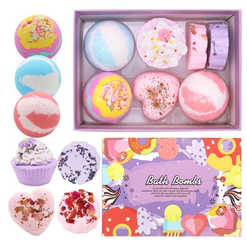 7 шт. Специальный форма ванна бомбы подарок набор с эфирными маслами спа пузырь для женщин X7YB