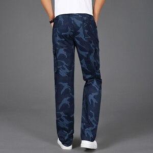 Image 4 - 2020 yeni Joggers erkekler sıcak satış rahat kamuflaj pantolon Homme yaz % 100% pamuk elastik rahat pantolon erkekler artı boyutu 5XL