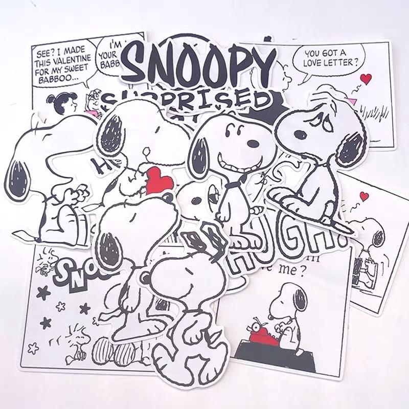 20pc Peanuts Snoopy Kawaii Cartoon DIY Scrapbooking Stickers Hand Account Notebook Trolley Case Computer Decoration Stickers Bag