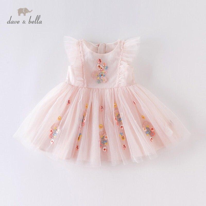 DBM14099 dave bella летнее платье принцессы с цветочной вышивкой для маленьких девочек, детские модные вечерние платья, детская одежда Лолиты|Платья| | АлиЭкспресс