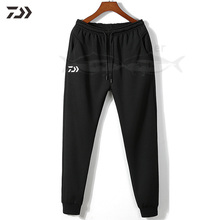 Daiwa рыбацкие брюки мужские зимние на шнурке уличная одежда для рыбалки сохраняющие тепло плотные однотонные мужские длинные штаны на молнии в походных штанах