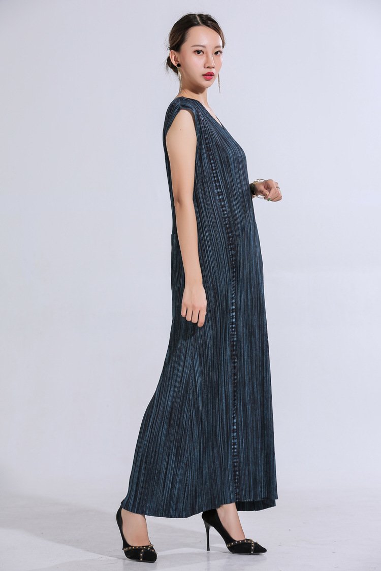 Nouveau Miyake robes plissées grand Design Cowboy série v-cou robes livraison gratuite
