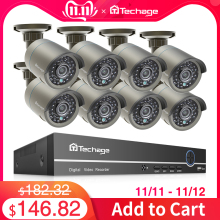 Techage Surveillance-Set Audio-Record Ip-Camera Cctv-Security-System POE P2p-Video HDMI