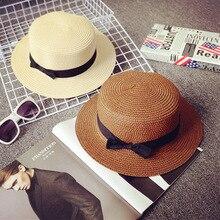 Panama Hat Fedora-Top Straw American Summer Jazz Children Women European 52-54cm 55-57cm