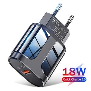18 Вт Быстрая зарядка мобильный телефон зарядное устройство Быстрая зарядка QC 3,0 4,0 EU US вилка адаптер настенное USB зарядное устройство для iPhone...