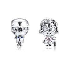 Original 925 Sterling Silver Bead Mr. Wise and Mrs. Charm Beads Fit Pandora Bracelet & Bangle Diy Jewelry Kralen Wholesale