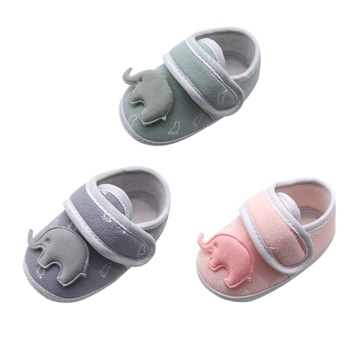 Casual Newborn Baby Shoes Boys Girls Breathable Cartoon Print Anti-Slip Shoes Sneakers Soft Soled Toddler Kids First Walker image