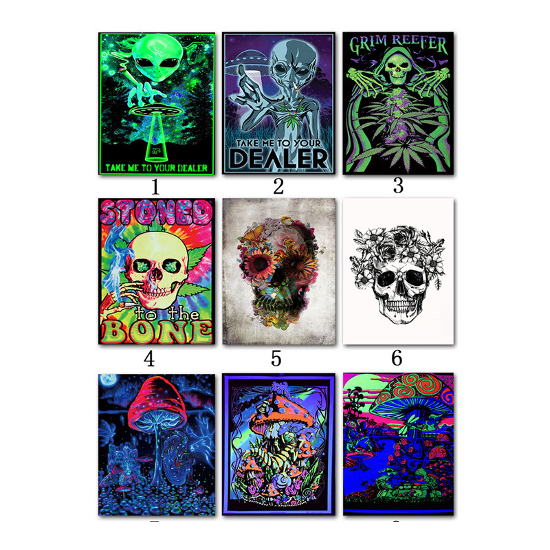 Psychedelic Acid Lsd Acrylic Silk Art Print Painting Poster Wall Pictures For Living Room Decoration Home Decor No Frame