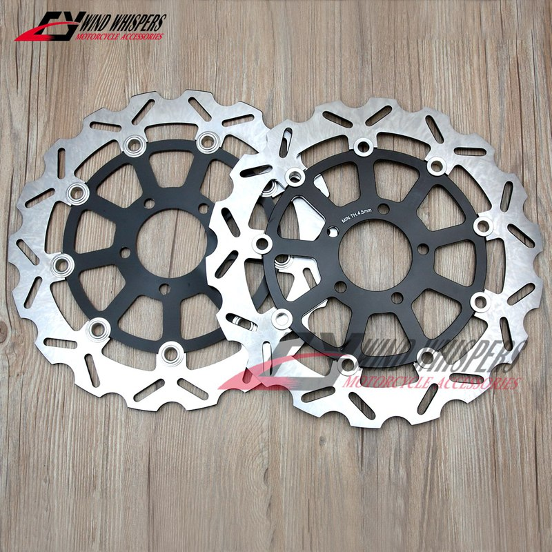Arashi Front Rear Brake Disc Rotors for SUZUKI GSXR 600 1997-2003 Motorcycle Accessories GSX R600 GSX-R 600 750 1000 GSXR600 Black 1998 1999 2000 2001 2002