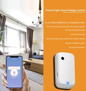 Image 3 - Tuya умный дом 180 ° WIFI датчик освещенности умный WiFi датчик яркости Умный Свет Питание от USB светильник датчик