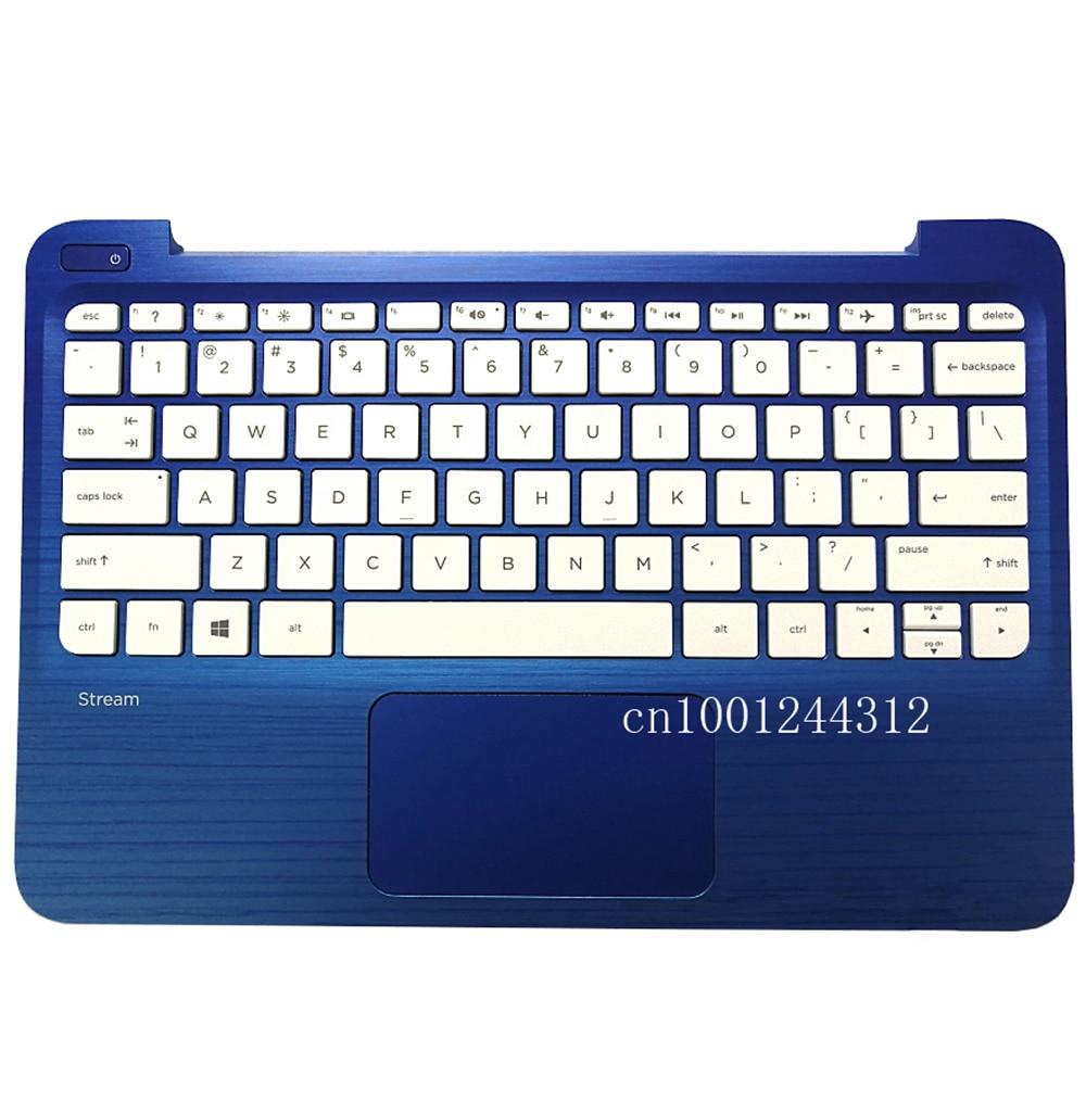 New Original For HP Stream 11-R 11-R020NR Palmrest Upper Case Keyboard Bezel Cover US 830778-001
