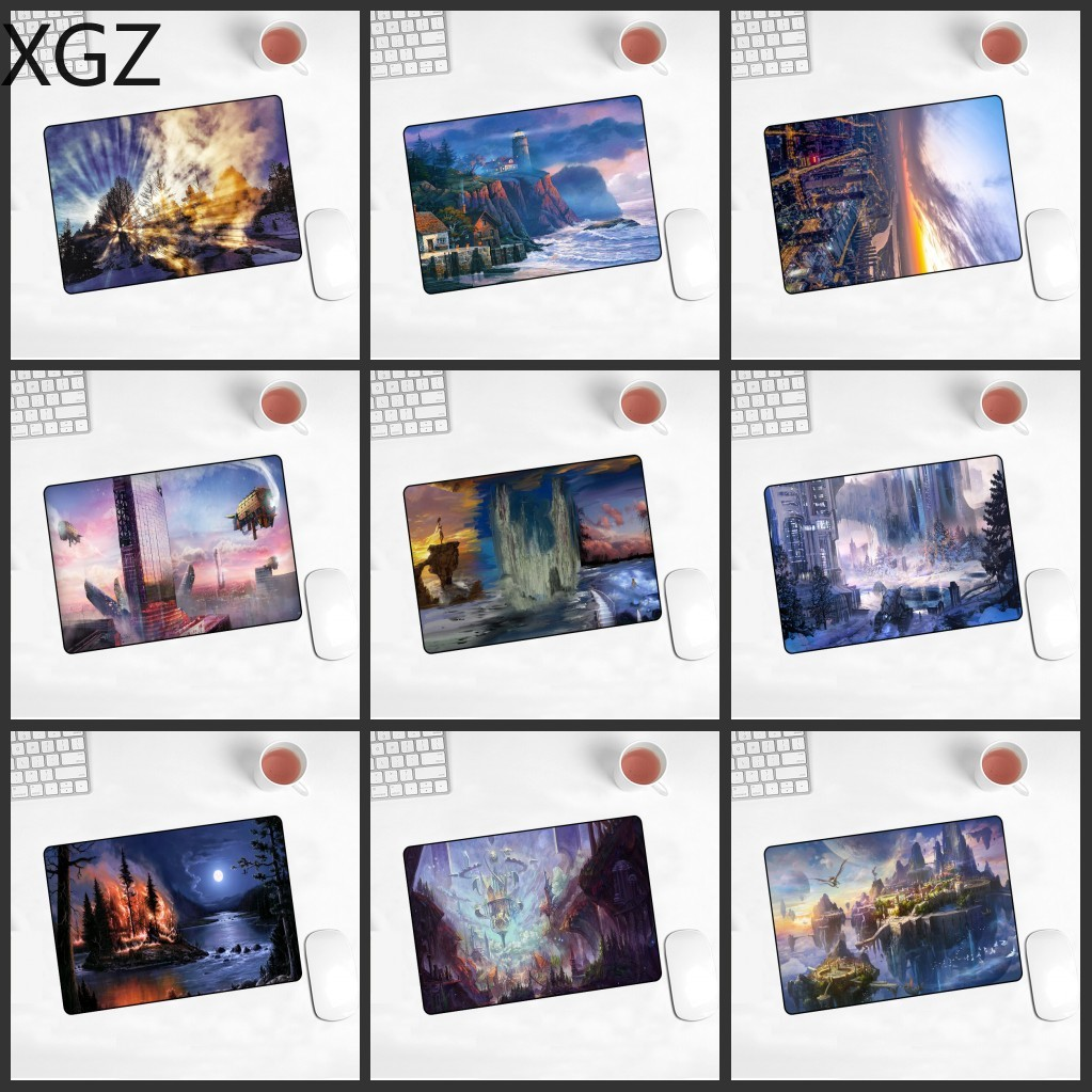 XGZ Promotional New Fantasy World Mousepad Animation Game Player Computer Keyboard Pad Anti-slip 220X180X2MM Mouse
