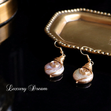 Vintage Pearl Freshwater Earrings Personality Concise Earring Natural Pendientes Small Eardrop Exquisite For Women