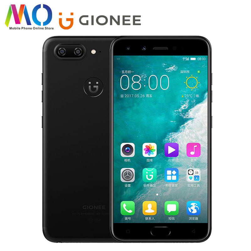 Оригинальный Gionee S10 мобильный телефон 5,5 дюйма MediaTek MTK Helio P25 Octa Core 6 Гб 64 Гб 3450 мАч Android 7,0 4G FDD-LTE смартфон