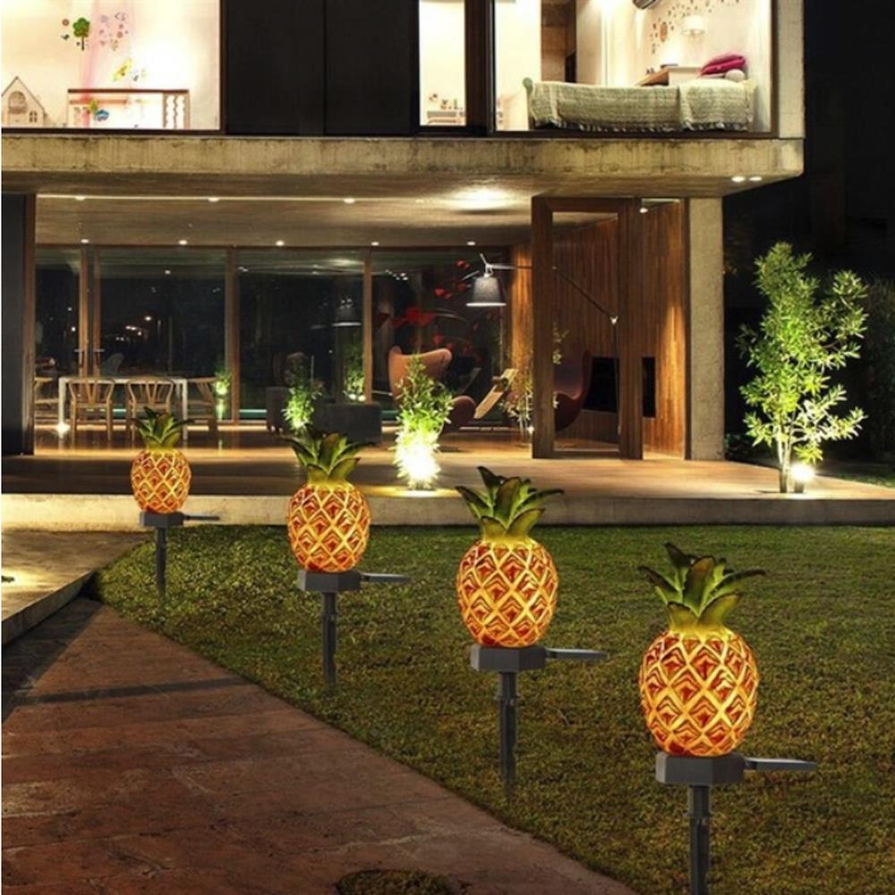 Solar Lawn Lamp Pineapple / Cactus Eco-Friendly Landscape Lights Ornament Fake Plant Durable Lawn Light Home Waterproof