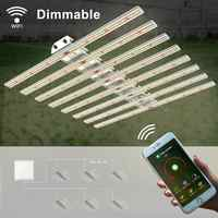 Phlizon bar light dimmable High PAR Output Full spectrum 640 watt led grow light bar adjustable rope 220v wifi control