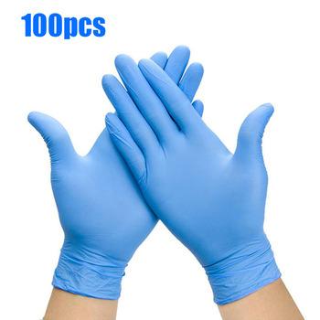 100 sztuk jednorazowe kuchenne lateksowe rękawiczki medyczne rękawice do mycia naczyń gumowe rękawice ogrodowe uniwersalne dla lewej i prawej ręki tanie i dobre opinie 70g F02004 Średniej grubości latex Czyszczenie Gładka podszewka lateksowe Black Latex gloves Kitchen medical work rubber gloves