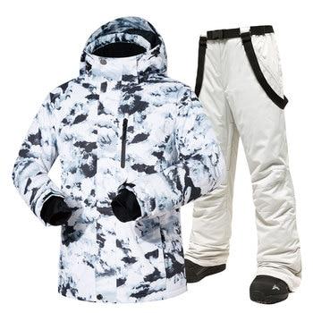 Лыжный костюм с температурой-30, мужские брендовые зимние уличные ветрозащитные водонепроницаемые теплые зимние куртки и брюки, лыжная сноубордная куртка для мужчин, алиэкспресс на русском официальный сайт