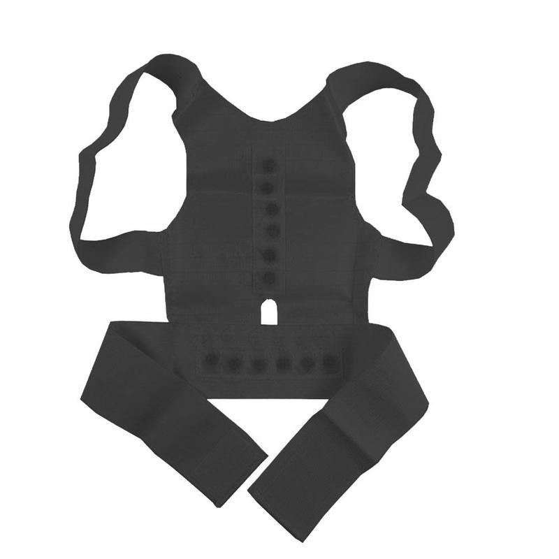 Corrector volta cinta reta cinto postura magnética terapia corretiva espartilho apoio lombar em linha reta masculino feminino cinta cinto|Suportes|   -