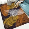 Retro printed carpet living room coffee table mat abstract feather floor mat cross-border 3D home room bedside blanket