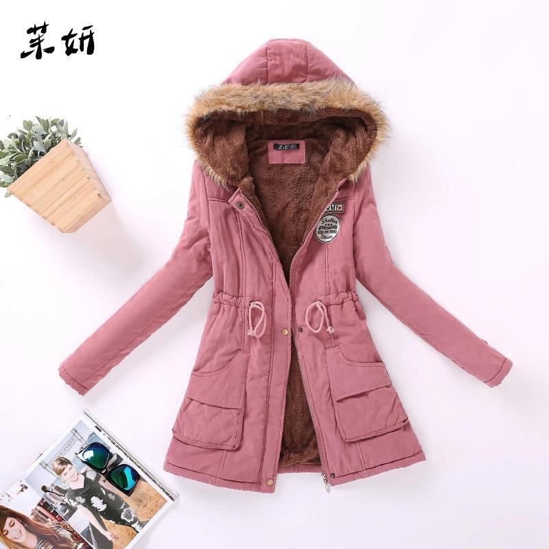 Nouveau automne hiver femmes coton veste rembourré décontracté mince manteau broderie à capuche Parkas grande taille 3XL ouaté pardessus