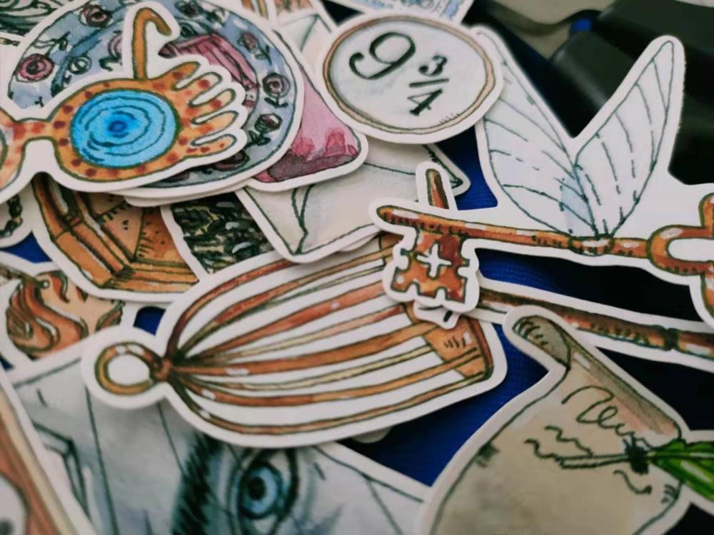 38 PCS\SET Magic Academy Series Tools Mask Key Books Decoration Stickers Diy Ablum Diary Scrapbooking Label Sticker Stationery