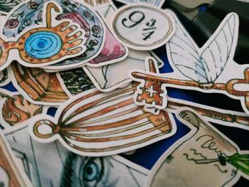 38 PCS\SET Magic Academy Series Tools Mask Key Books Decoration Stickers Diy Ablum Diary Scrapbooking Label Sticker Stationery - discount item  5% OFF Stationery Sticker