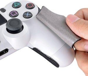 Image 3 - IVYUEEN 1 Paar Schwarz Anti slip Controller Grips Abdeckung Für Playstation Dualshock 4 PS4 PRO Dünne Control Smarter Tintenfisch hand Grip