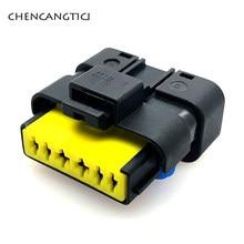 2 takım 6 Pin Way otomotiv gaz kelebeği FCI konnektör fiş Pigtail Renault Peugeot Citroen için 211PC069S0049 211 PC069S0049