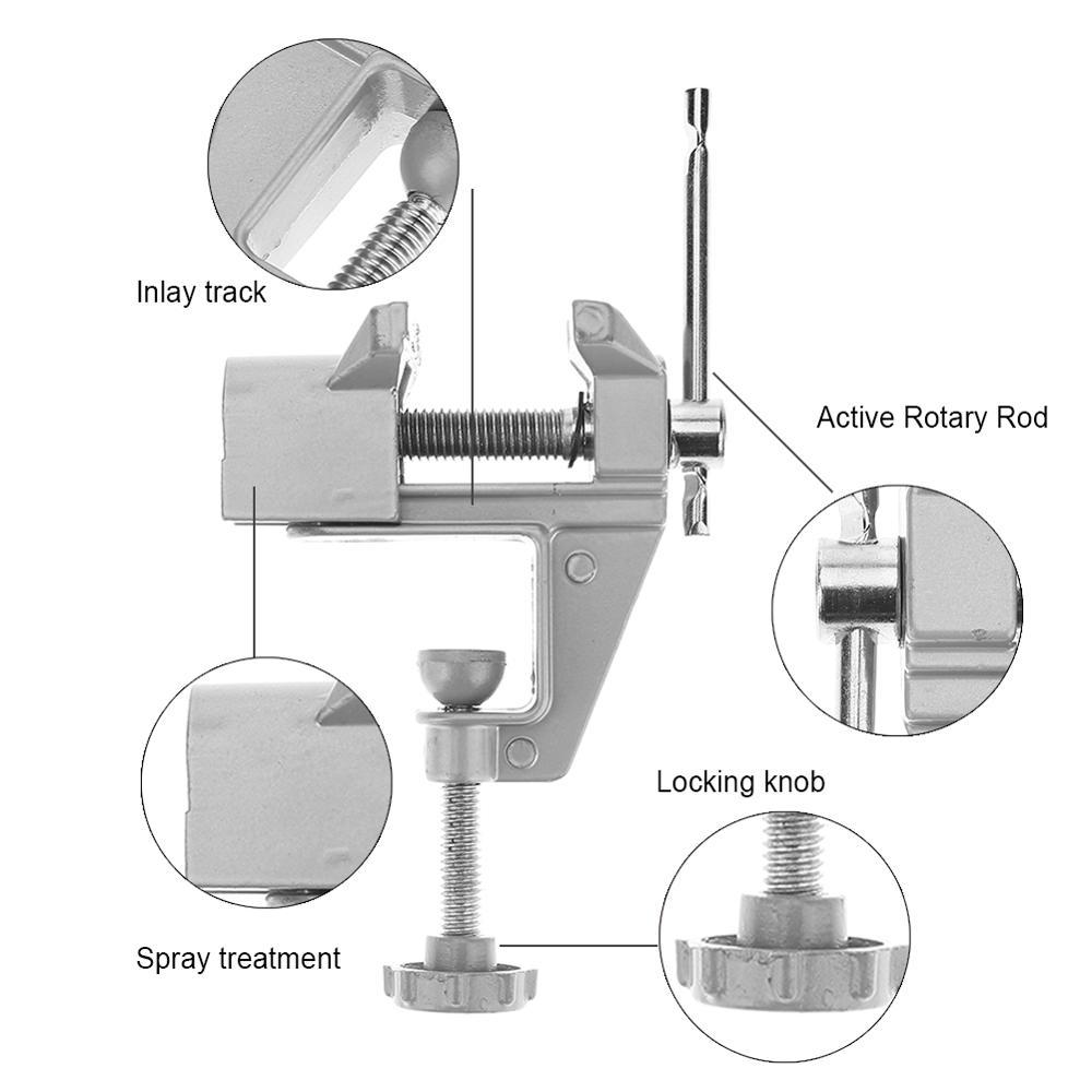 Morsa da banco universale Mini tavolo in lega di alluminio Morsa da - Macchine utensili e accessori - Fotografia 5
