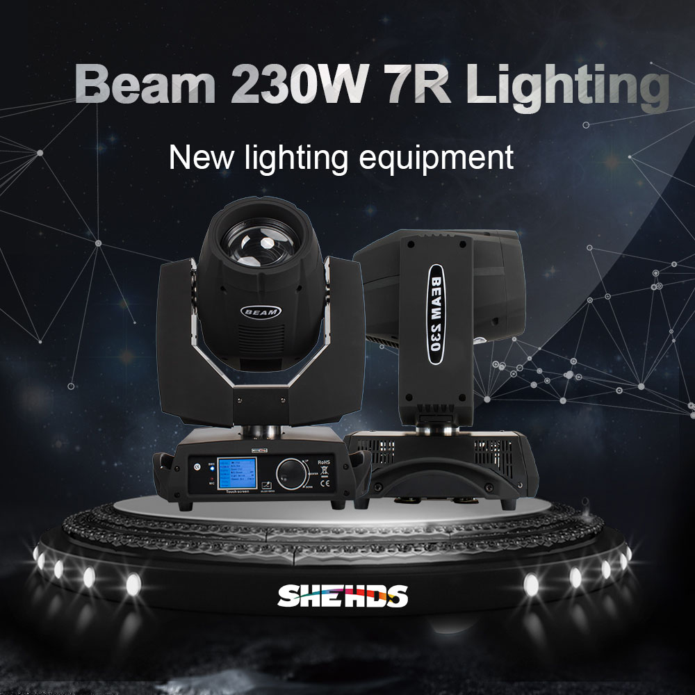 SHEHDS Fast Shipping LED Beam Moving Head 7R Beam 230W Touch Screen Beam For DJ Disco Dance Floor Nightclub Parties Show