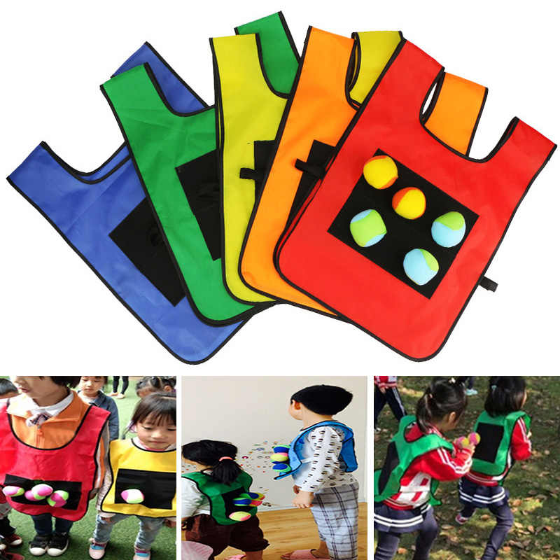 Children Kids Shooting Balls Games Throw Toy Vest Educational for Outdoor Sport 2019 New Design Kids Toys Dropship