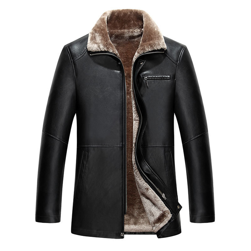 New Genuine Jacket For Men Faux Fur Coat Men's Brand Wool Jacket Male Natural Leather Jacket Men Top Quality Casual Overcoat 5XL