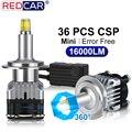 2 шт., Автомобильные светодиодные лампы 36SMD CSP 9005 лм H1 H7 H11 H3 9006 HB3 360 HB4 52 Вт