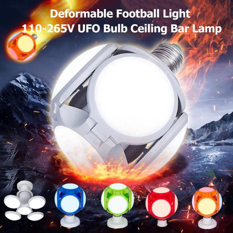 120LED E27 40W Deformable Football Light 110-265V UFO Bulb Ceiling Bar Lamp