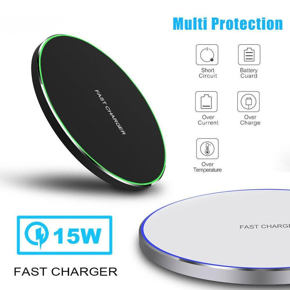Wireless-Charger Usb-Phone Fast-Charging 15W For Samsung Note Qi X Xs Max-Xr S8 S9-Plus title=