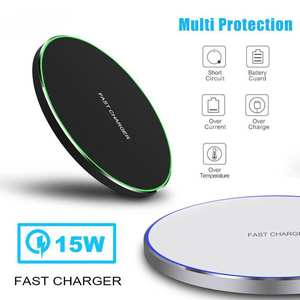 Wireless-Charger Note Usb-Phone Qi Fast-Charging Samsung S8 S9-Plus 15W for X Xs Max-Xr