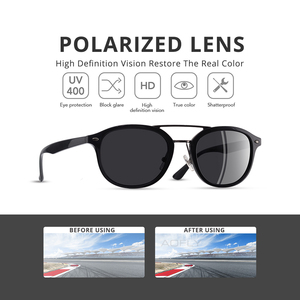 Image 2 - AOFLY Brand Designer Classic Polarized Sun glasses Men Women Ultralight TR90 Frame Round Sunglasses For Male Gafas Oculos De Sol