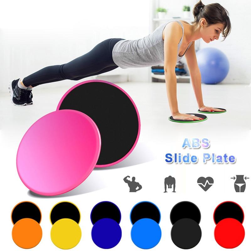 Acessórios de Treinamento Exercício do Corpo Esportes Almofadas Deslizantes Fitness Slide Placa Slider Abdominal Triângulo Redondo Disco 1 Par