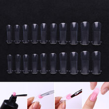 1 Box Quick Building Mold Tips Nail Dual Forms Finger Extension Nail Art UV Extend Gel Nail Extension Tool(China)