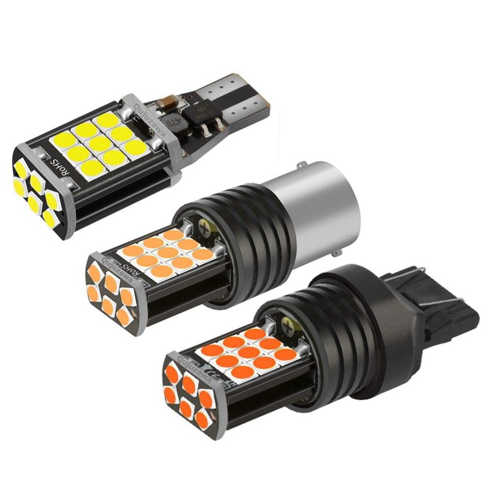 2 шт. 1156 BA15s P21W 1157 BAY15D P21/5 W T20 W21W 7440 W21/5 W 7443 T15 W16W Светодиодные Автомобильные стоп-сигналы поворота Автомобильные фонари заднего хода