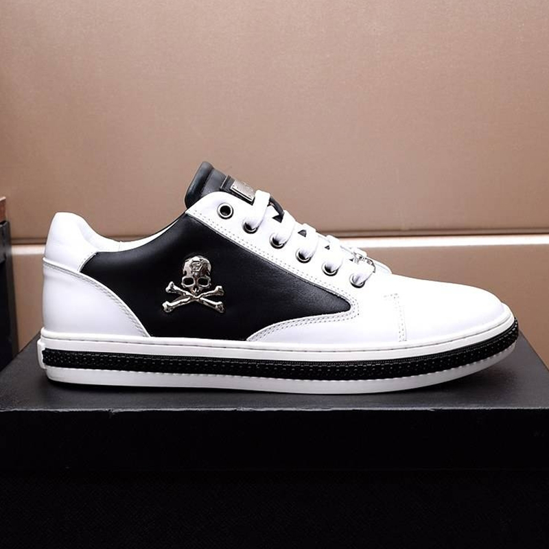 Starbags PP New Fashion Logo Sports Casual Little White Shoes Fashion First Leather Leather Breathable British Men's Board Shoes