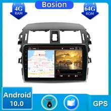 1 Din автомобильное радио 4 Гб + 64 ГБ для Toyota Corolla 10 E140 E150 2006-2013 Android 10,0 сплит-экран зеркальная ссылка SWC BT Камера