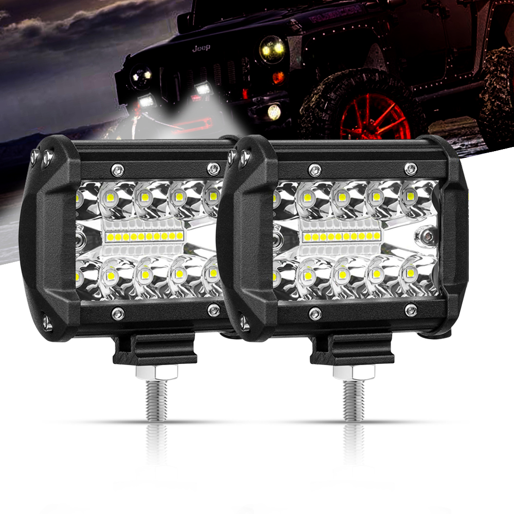 "4"" 7"" LED Bar Off Road Spot Flood LED Light Bar 4x4 for Offroad ATV UAZ SUV Tractor Jeep Trucks Boat Work Light 12V 24V Ledbar"