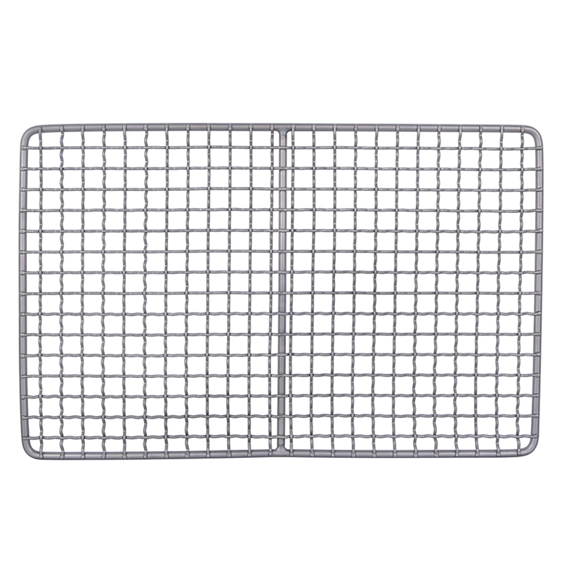 Titanium Charcoal Bbq Grill Barbecue Grill Durable Net Plate Camping Tableware