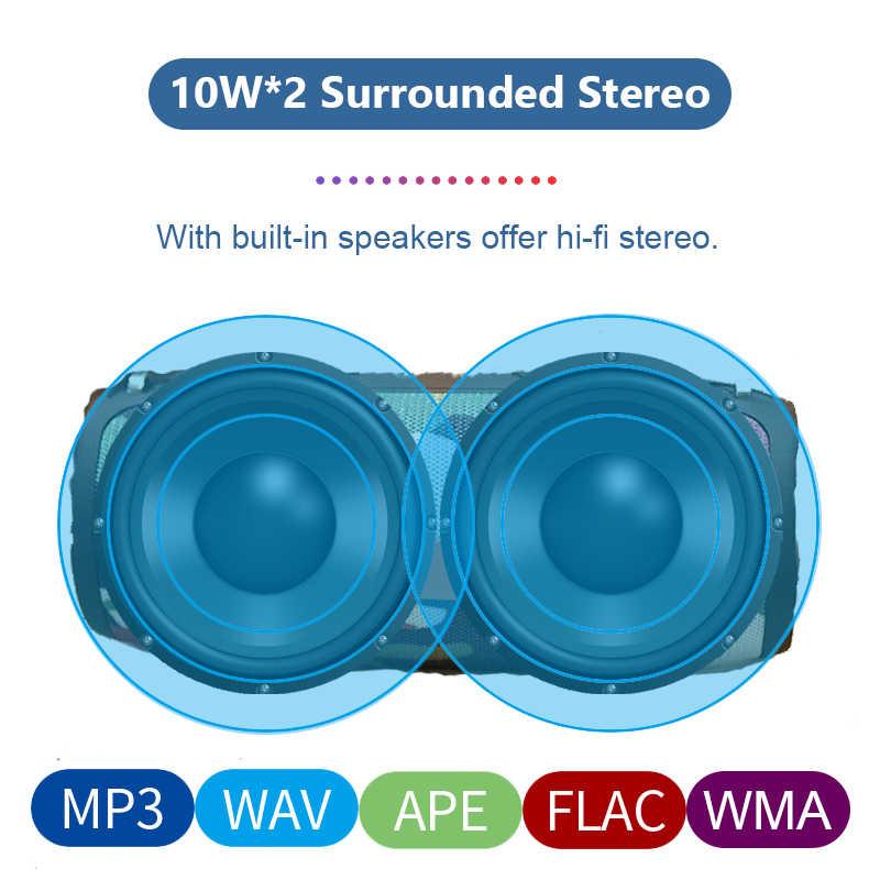 強力なワイヤレス Bluetooth スピーカーポータブル低音列の防水屋外スピーカーサポート AUX TF USB サブウーファーステレオラジカセ